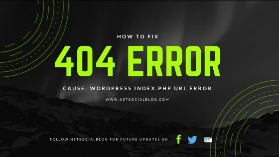 remove index.php from wordpress permalink URL