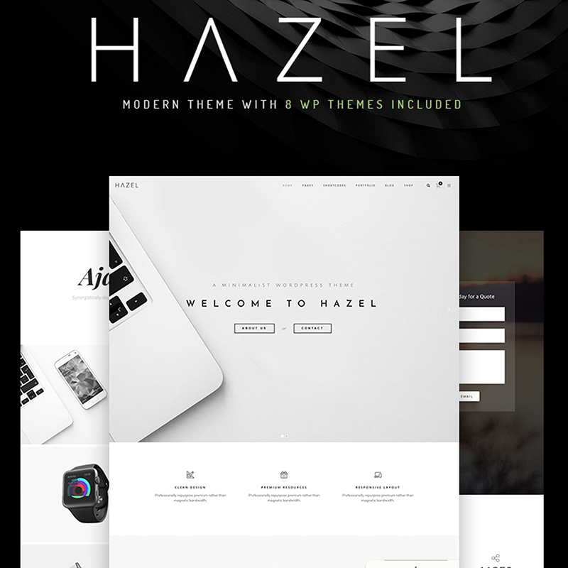 Hazel - Clean Minimalist Multi-Purpose WordPress Theme - best WordPress blog themes