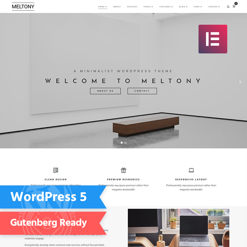 Meltony - Minimal Multipurpose Elementor WordPress Theme