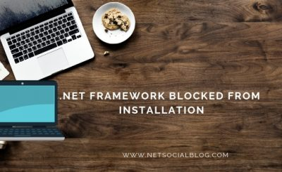 .NET Framework blocked from Installation