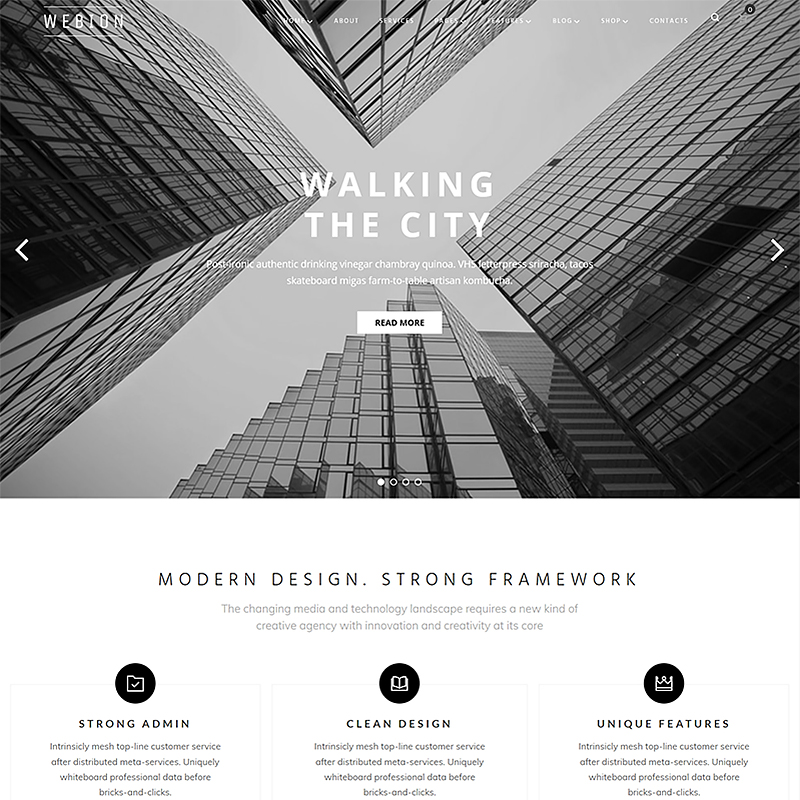 Webion - Minimal Elementor Multipurpose WordPress Theme - best WordPress blog themes